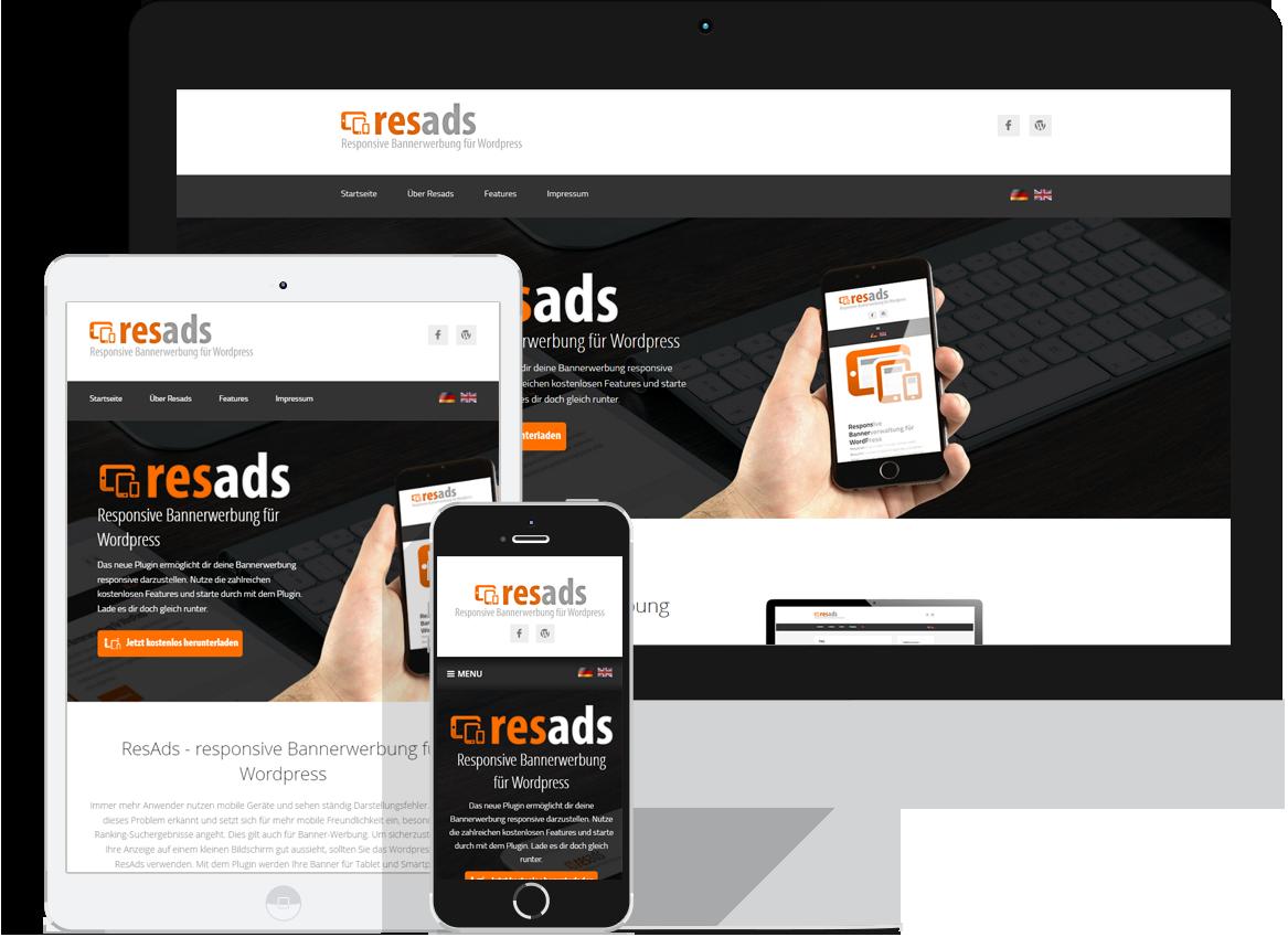 resads.de - responsive Bannerwerbung für WordPress