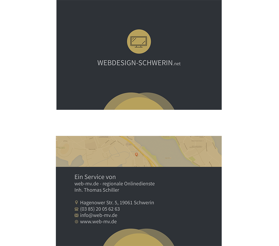 Visitenkarte - Webdesign-Schwerin.net