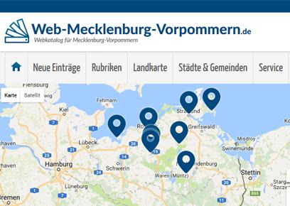 Webkatalog für Mecklenburg-Vorpommern