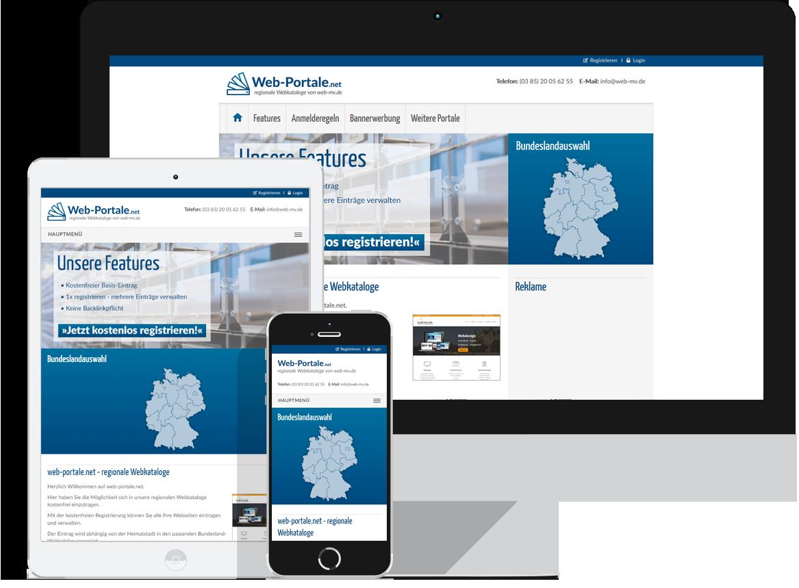 Web-Portale.net - regionale Webkataloge von web-mv.de